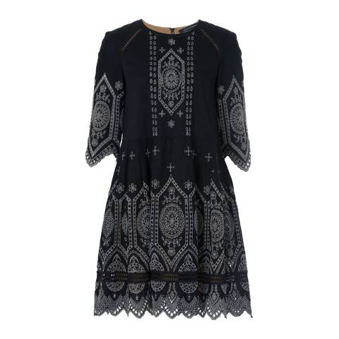 French Connection Josephine Broderie Anglaise Lace Cotton Dress