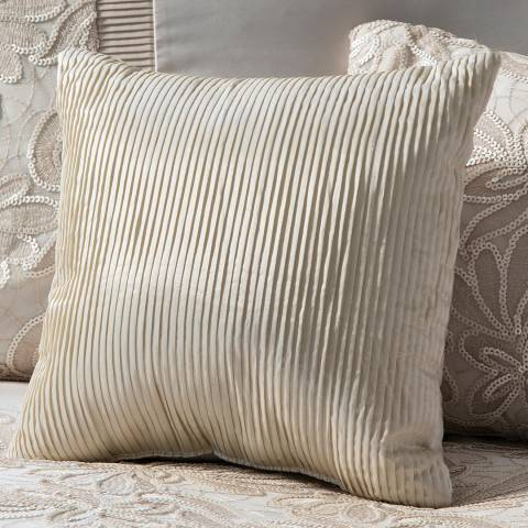 Gallery Cream Lausanne Filled Pleated Cushion 30x30cm