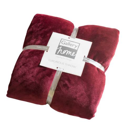 Gallery Dark Red Flannel Fleece Throw 140x180cm