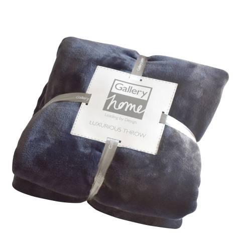 Gallery Blue Flannel Fleece Throw 140x180cm
