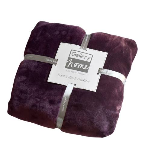Gallery Plum Flannel Fleece Throw