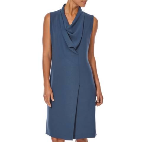 Joseph Sea Blue Crepe Milton Dress