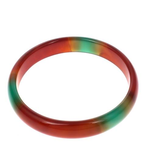 Alexa by Liv Oliver Orange/Green Agate Bangle