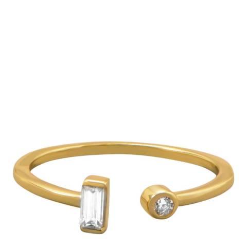 Black Label by Liv Oliver 18k Gold Plated Ring