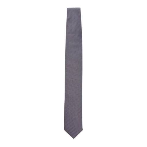 Hackett London Grey Chevron Silk Tie