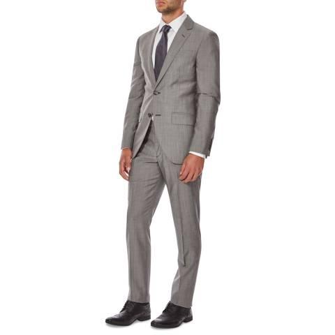 Hackett London Mid Grey Mohair Wool Blend Suit