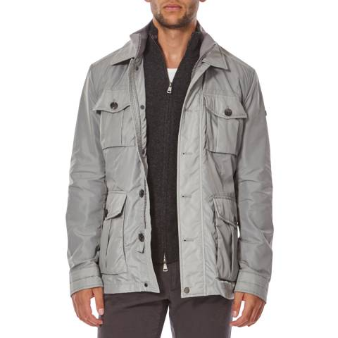 Hackett London Slate Grey Albermale Field Jacket