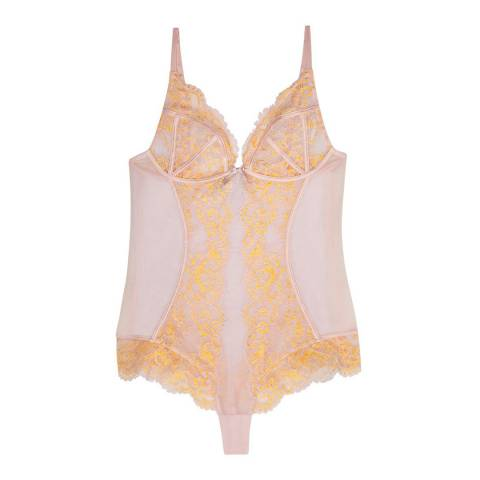 Pleasure State Couture Pink/Gold Isla Bodysuit