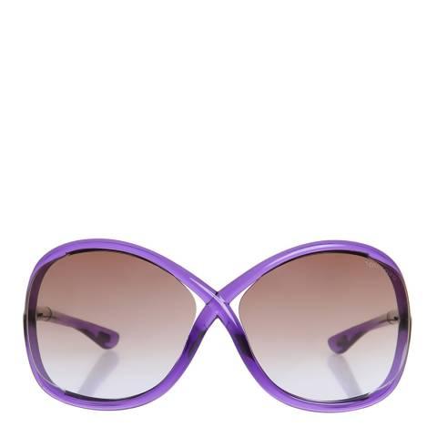 Tom Ford Women's Light Violet/Brown Whitney Sunglasses 64mm