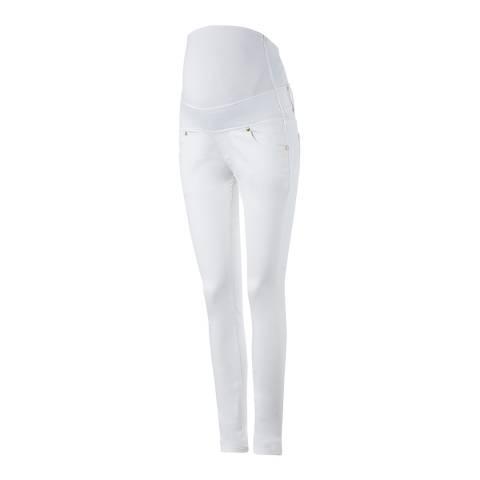 Isabella Oliver Off White Zadie Stretch Maternity Skinny Jeans