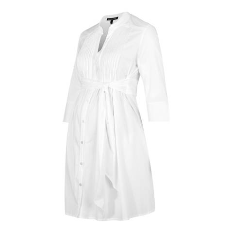 Isabella Oliver Pure White Libby Maternity Tunic Dress