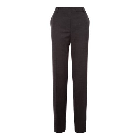 Jaeger Charcoal Flannel Virgin Wool Blend Trousers