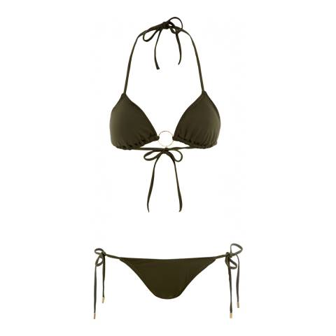 Melissa Odabash Olive Green Miami Triangle Bikini
