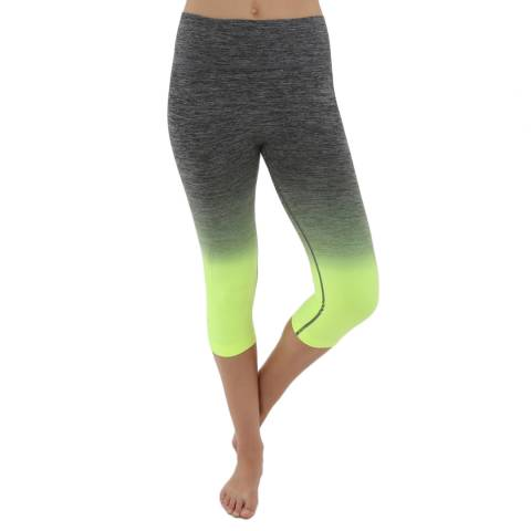 Electric Yoga Lime Green Faded Capri Trousers