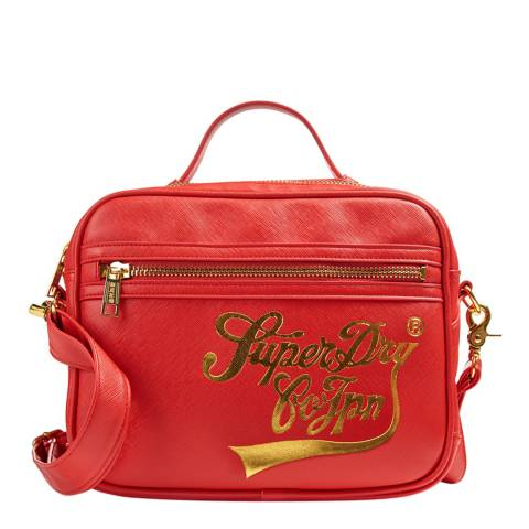 Superdry Unisex Royal Red Mini Monaco Handbag