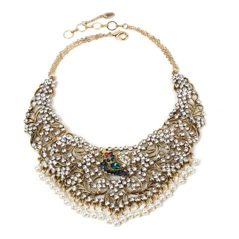 Amrita Singh Antique Gold Peacock Necklace