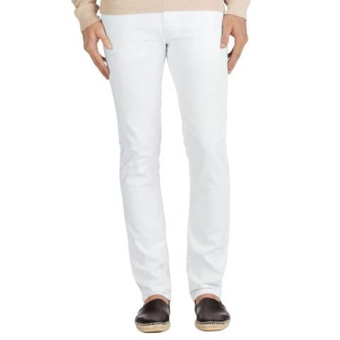 J Brand White Tyler Slim Stretch Jeans