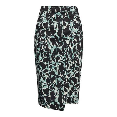 Great Plains Peppermint Silhouette Asymmetric Hem Skirt