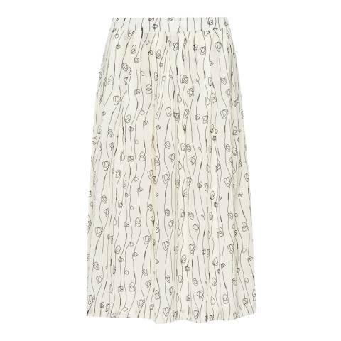 Great Plains Seasalt Doodle Stripe Pleated Skirt