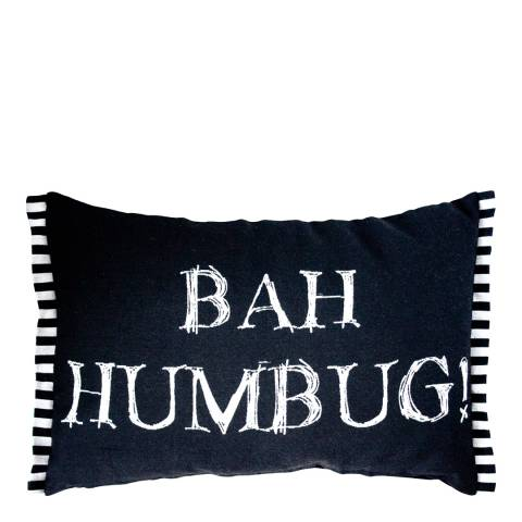 Kilburn & Scott Black/White Bah Humbug Cushion  33 x 50cm