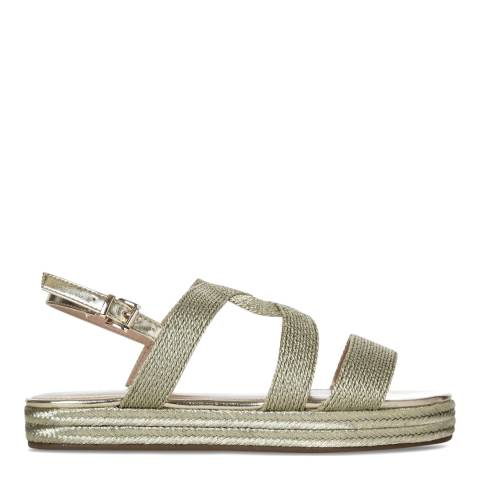 Carvela Kurt Geiger Metallic Gold Chunky Rope Kleo Sandals