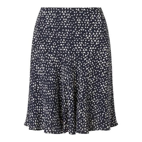 Jigsaw Navy Micro Triangle Flippy Skirt
