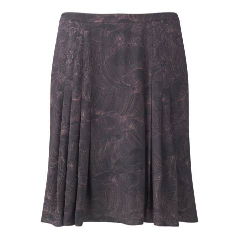 Jigsaw Womens Grey Pleated Petal Flared Skirt
