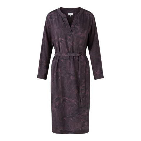Jigsaw Womens Purple Pleated Petal Tunic Silk Blend Dress
