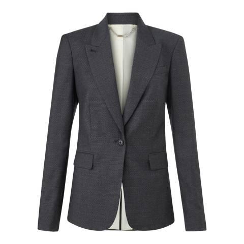 Jigsaw Womens Charcoal London Pinspot Wool Blend Jacket