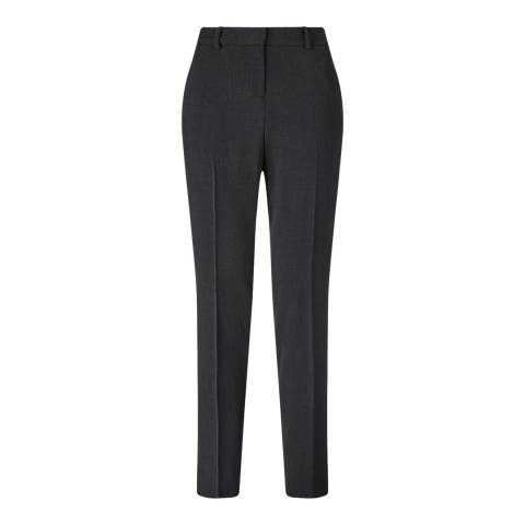 Jigsaw Dark Grey Paris Fine Wool Blend Trousers
