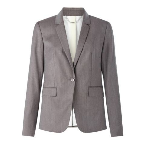 Jigsaw Womens Fawn London Herringbone Wool Jacket