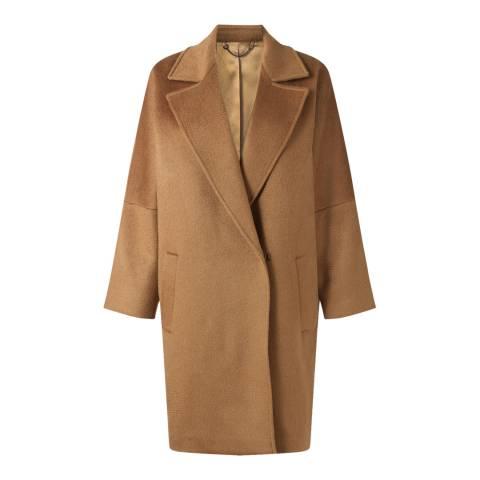 Jigsaw Camel Soft Cocoon Wool Blend Coat