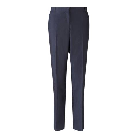 Jigsaw Womens Atlantic London Melange Wool Linen Trousers