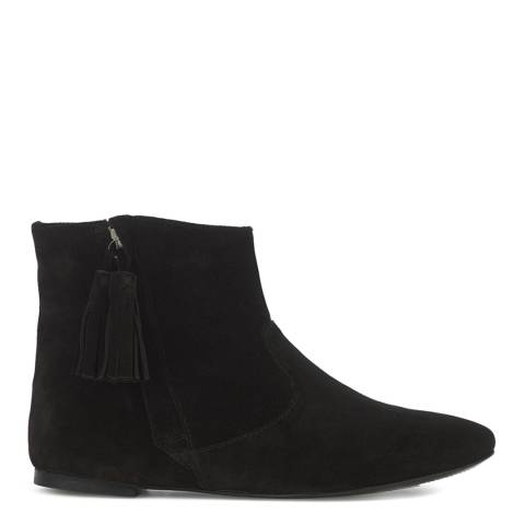Jigsaw Womens Black Suede Charlotte Flat Tassel Boot