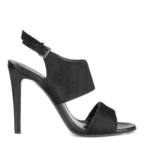 Jigsaw Womens Black Leather Darcy Heel Sandals