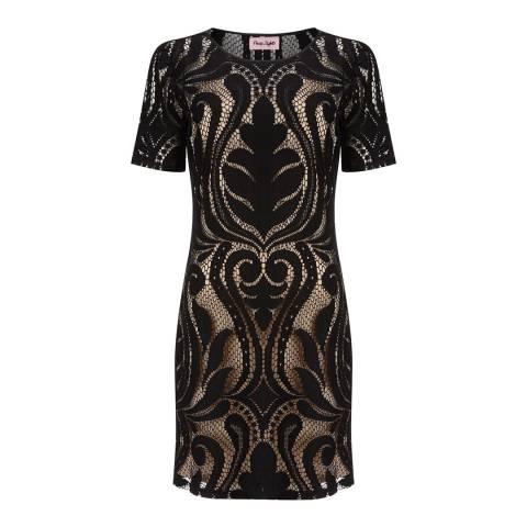 Phase Eight Black Lorrie Lace Cotton Blend Dress