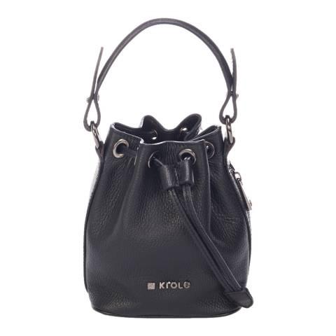 Krole Blue Leather Bucket Bag