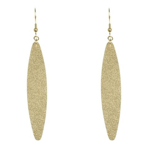 Chloe by Liv Oliver Gold Matte Finish Earrings