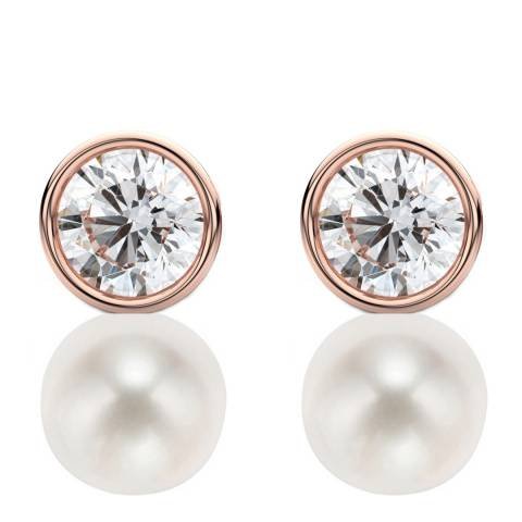 White label by Liv Oliver Rose Gold Stud Earrings