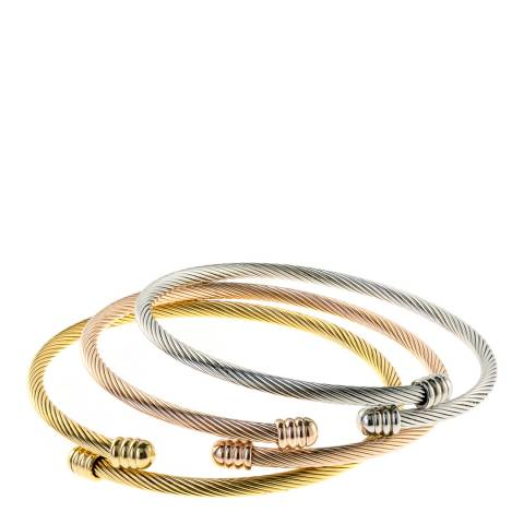 Chloe Collection by Liv Oliver Gold/Silver Bracelet Set