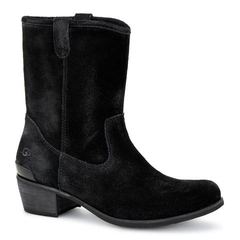 UGG Black Suede Briar Ankle Boots