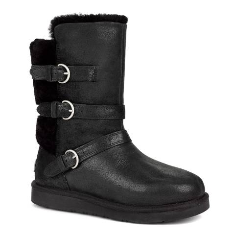 UGG Black Becket Sheepskin Lined Boots