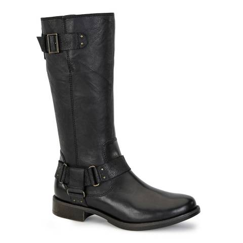 UGG Black Leather Damien Long Boots