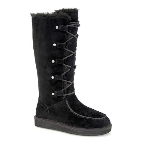 UGG Black Suede Appalachin Calf Boots