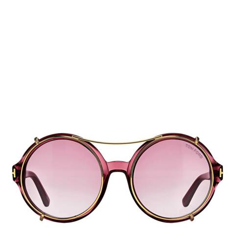 Tom Ford Women's Shiny Bordeaux / Smoke Violet Gradient Juliet Sunglasses 55mm