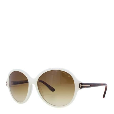 Tom Ford Women's Blonde Havana / Brown Gradient Sunglasses 59mm