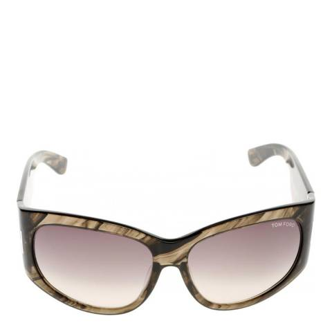 Tom Ford Women's Olive Horn / Grey Brown Gradient Sunglasses 61mm