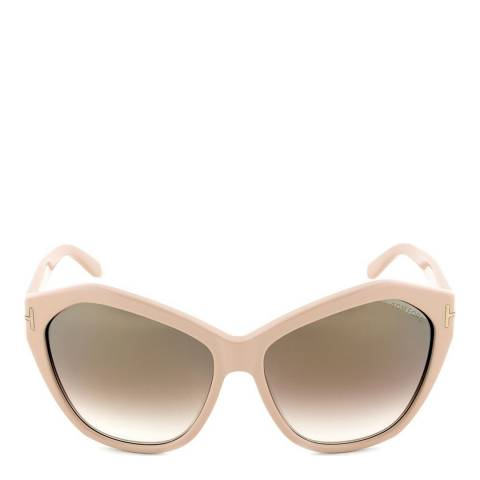Tom Ford Women's Nude Pink/Brown Angelina Sunglasses