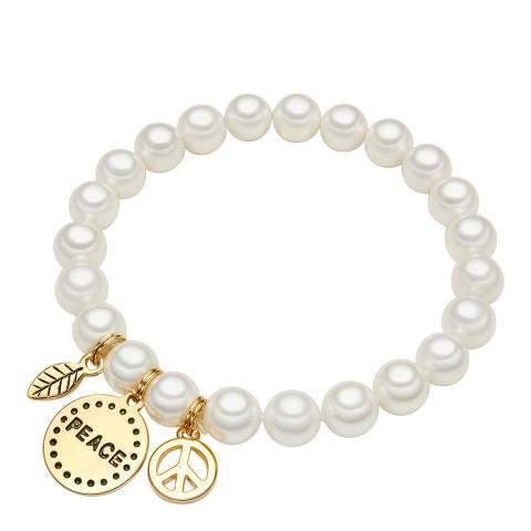 Perldesse White Pearl Charm Bracelet