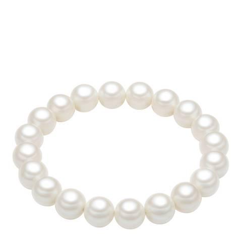 Pearls of London White Pearl Bracelet 10mm